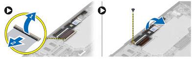 Removing the front camera Dell Latitude 10 – ST2e