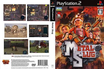 Jogo Metal Slug 3D PS2 DVD Capa