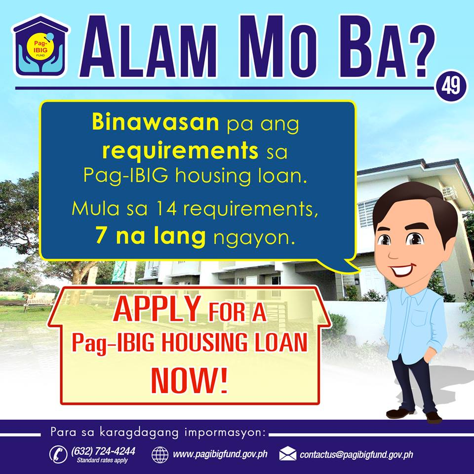 Pag ibig housing loan is now easier with lower interest for Loan to build a house on land