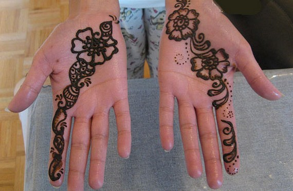 Simple And Easy Mehndi For Palm