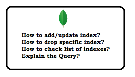 Mongodb index commands with examples