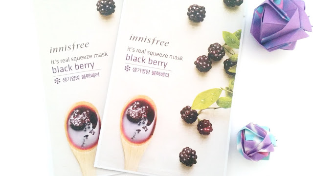 Innisfree It's Real Squeeze Mask: Black Berry