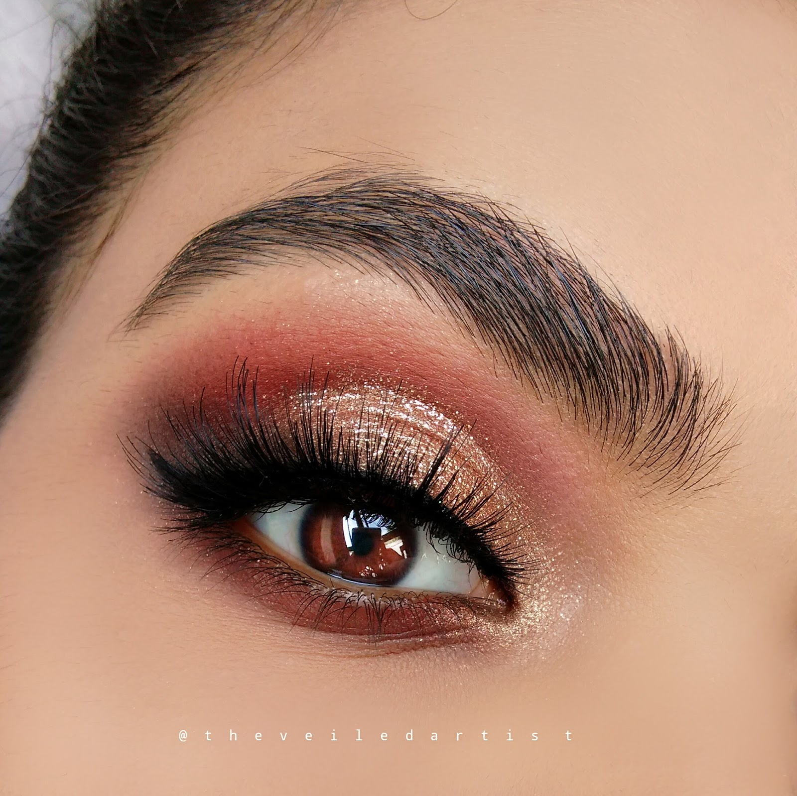 perfect prom makeup tutorial glittery gold smokey eyes