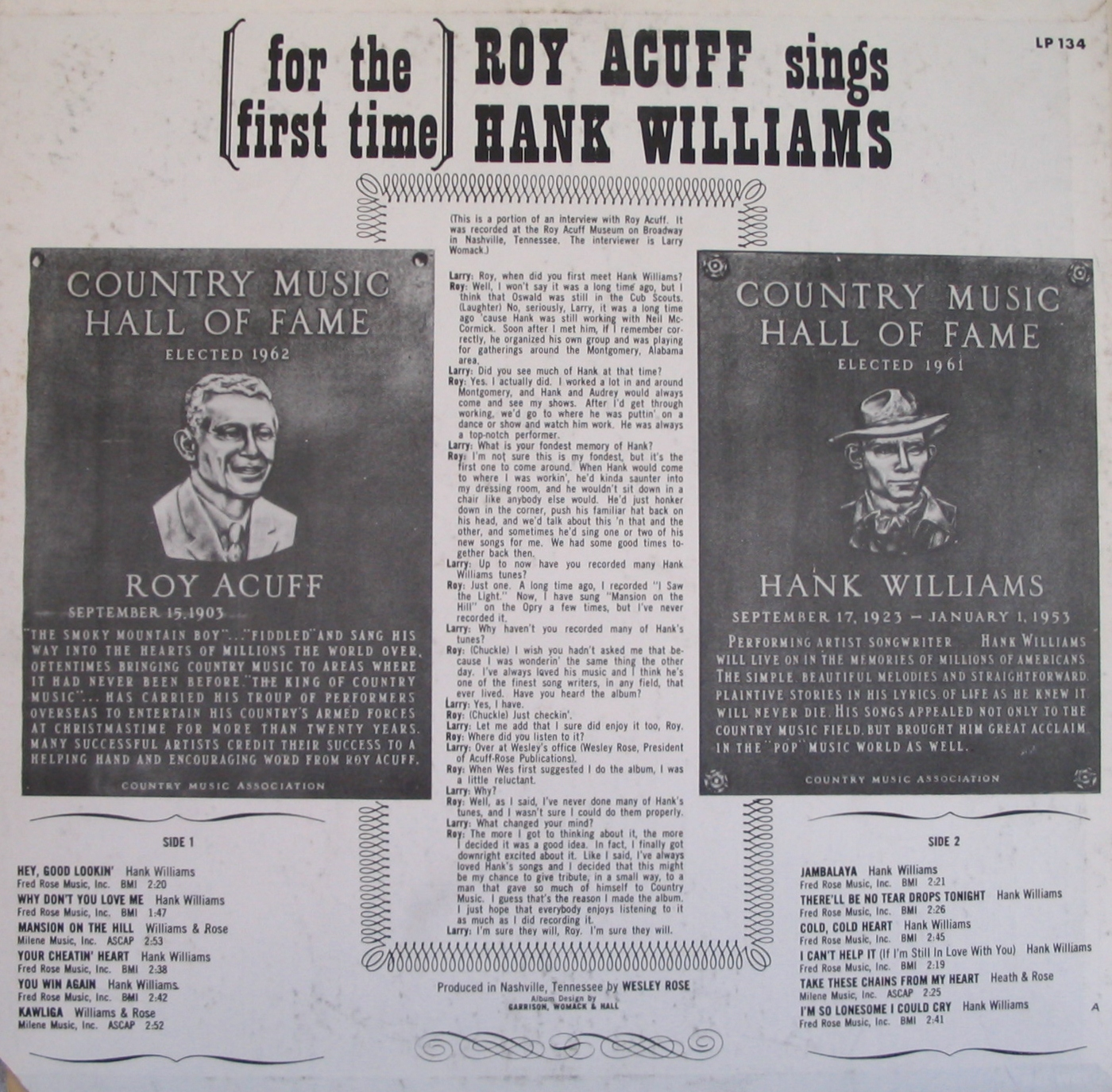 Allen`s archive of early and old country music : Roy Acuff