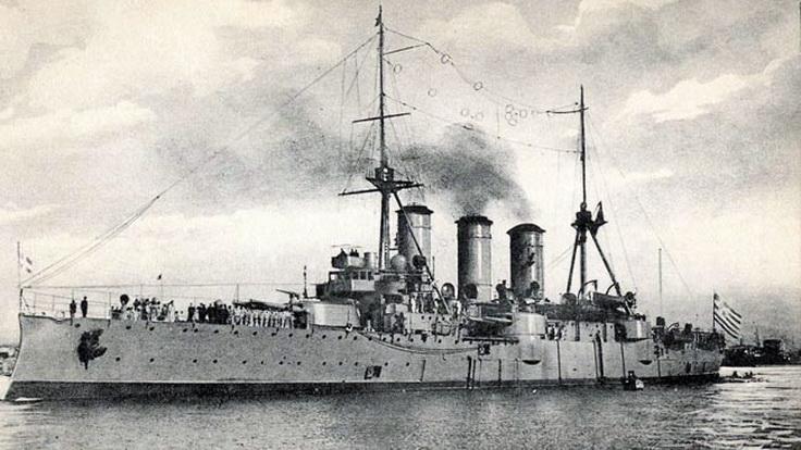 Το Θωρηκτό ΑΒΕΡΩΦ στο Δεδέαγατς. Οι ιστορικές στιγμές μέσα από το ημερολόγιο του θρυλικού πλοίου