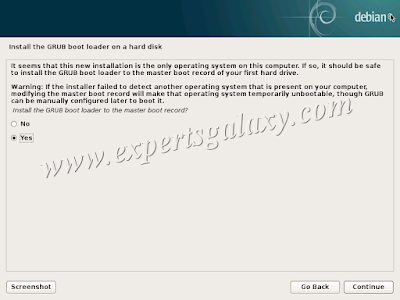 Debian GRUB Boot Loader Installation