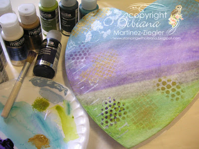 gift box paint layer with stencils