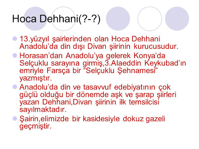 Hoca Dehhani'nin Hayatı