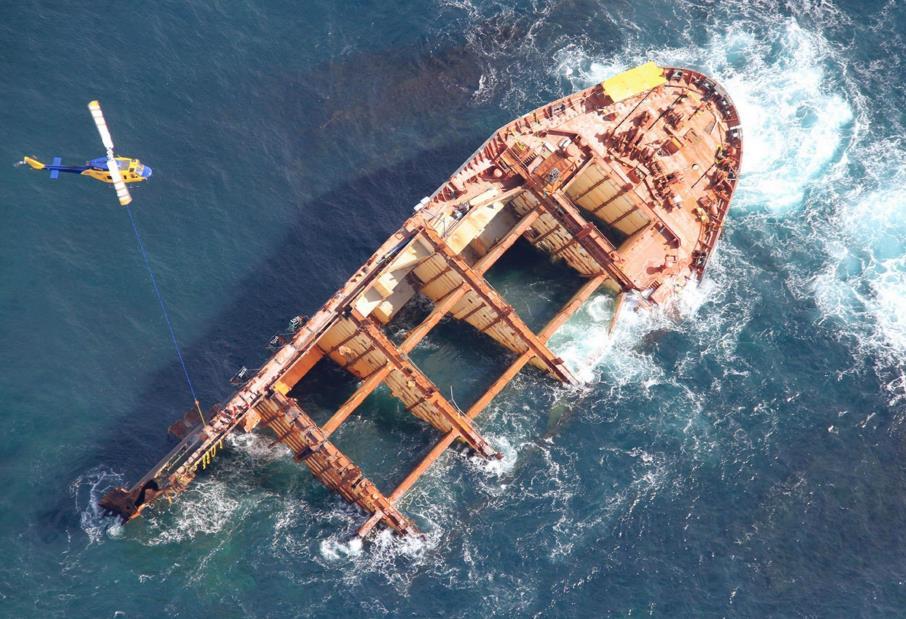 Rena Wreck No Longer a Hazard to Navigation