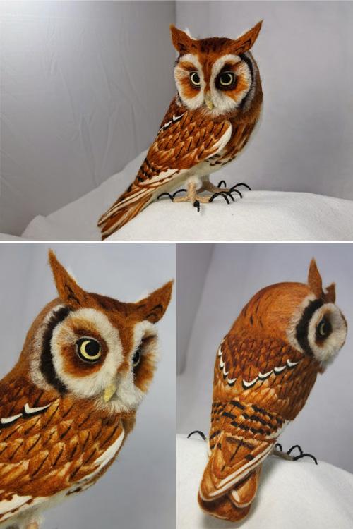 My Owl Barn Life Size Needle Felted Animals By Kiyoshi Mino