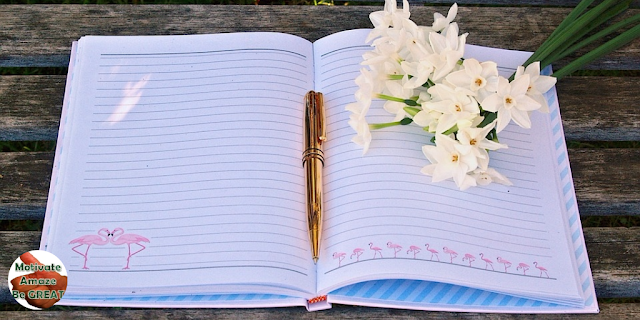 "Feature image of a Journal and Nature in the article ""7 Tips For Successful Journal Keeping"" - tips for writing a success journal"