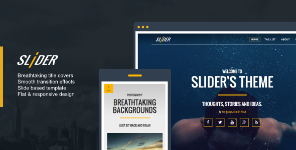 Slider v1.0.1 Responsive, Media Driven Ghost Theme