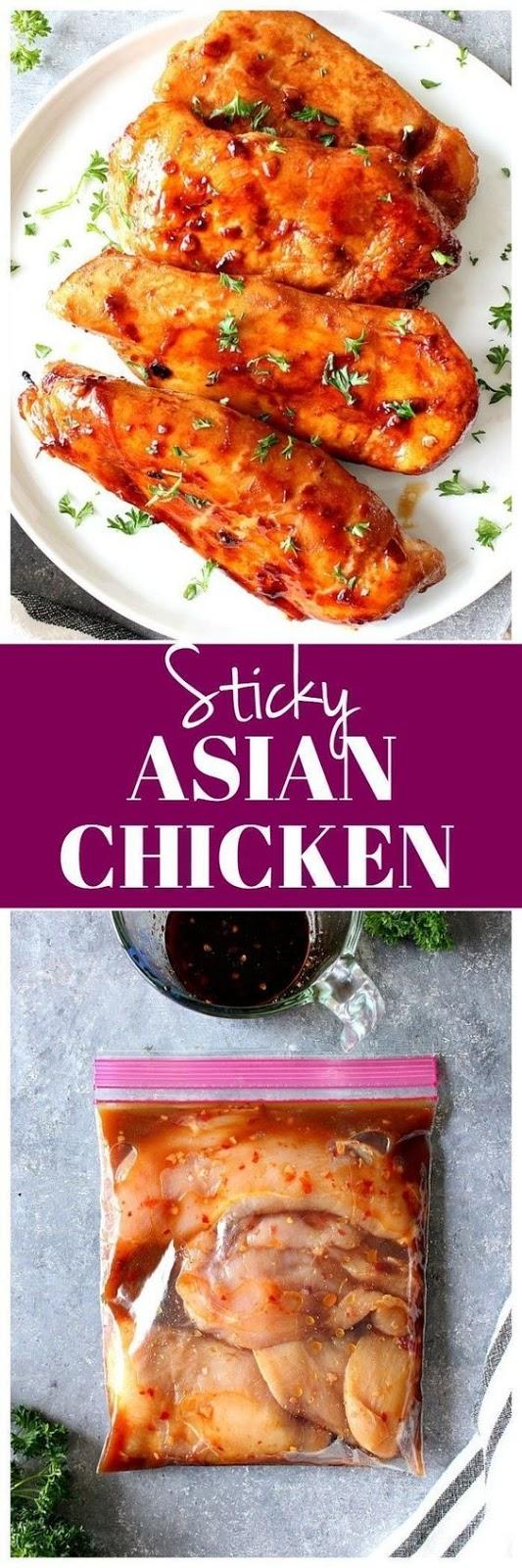 Sticky Asian Chicken recipe