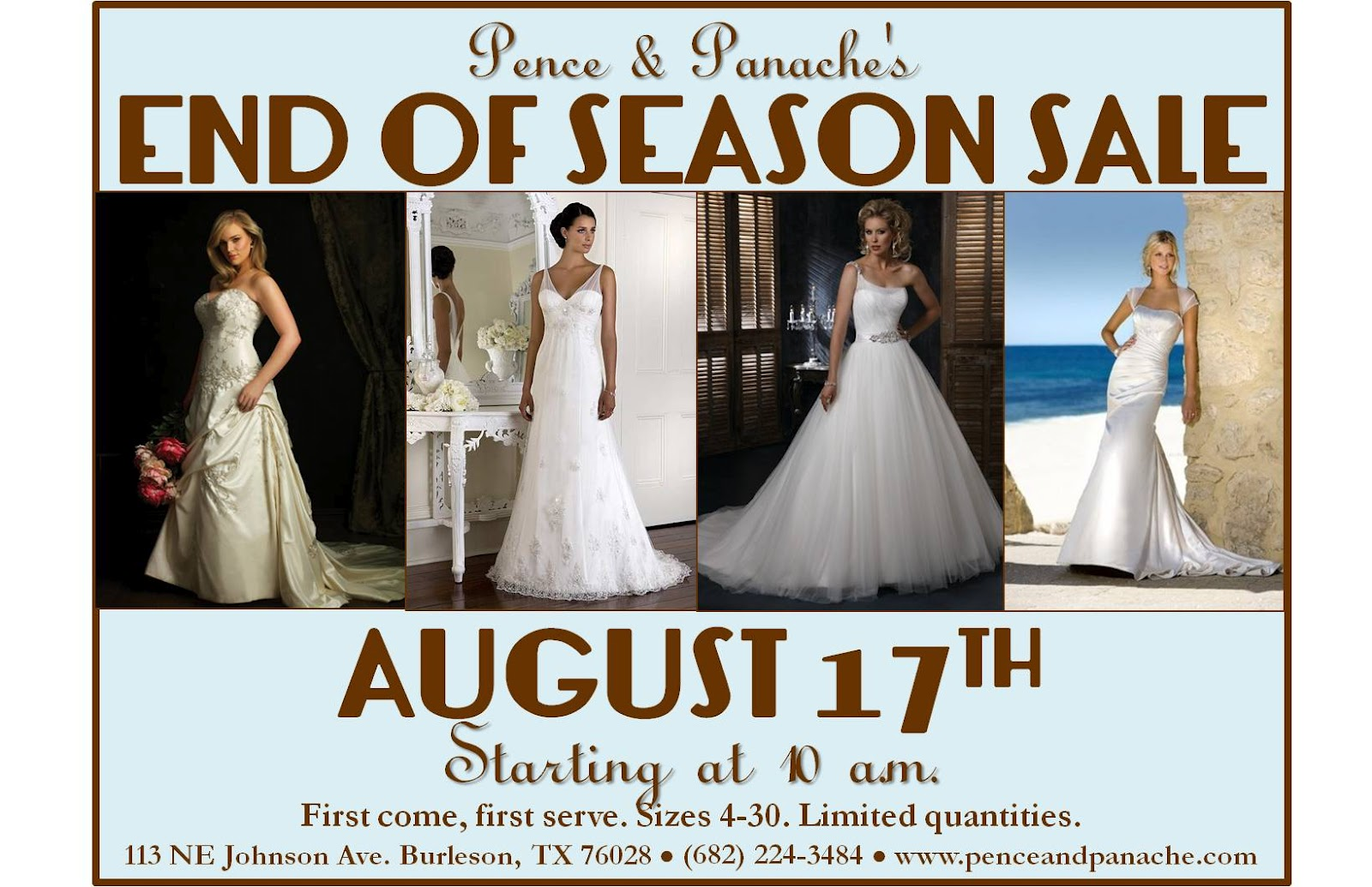 Pence And Panache S Blog Wedding Dress End Of Season Sale