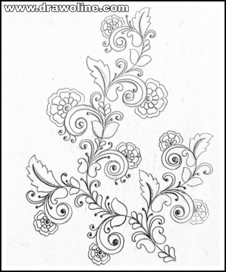 Pencil Drawing Hand Embroidery Bestpencildrawing,1920s Interior Design Australia