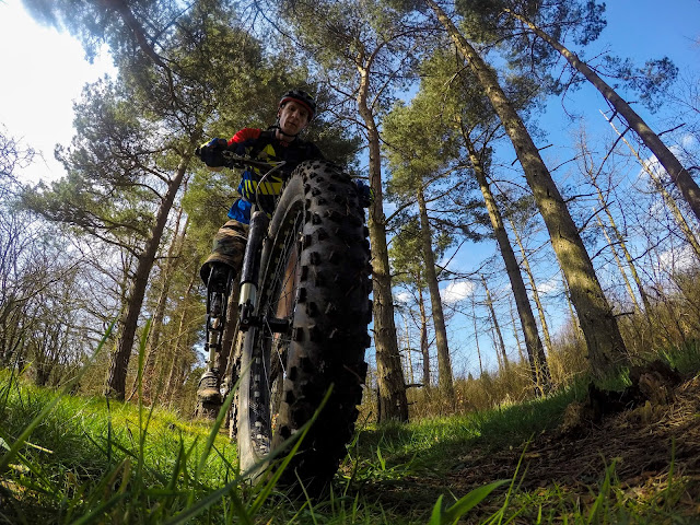 Glenn Johnstone riding my Fat Bike In the Woods