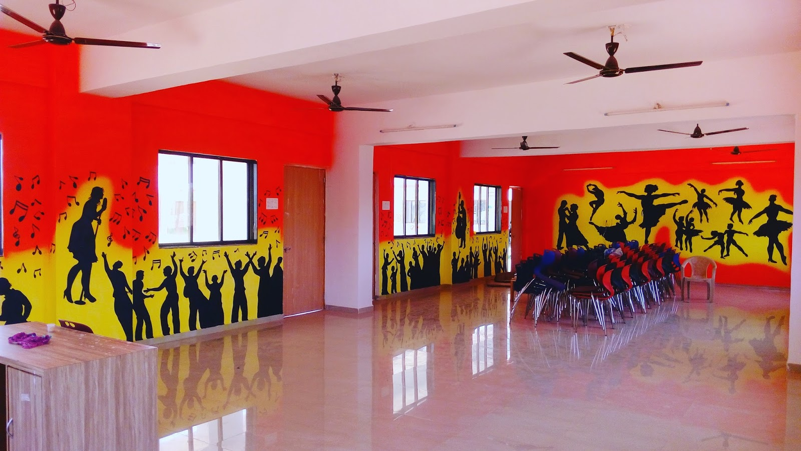 Wall Painting In Dance Roomchildren Wall Mural Dance Room For All