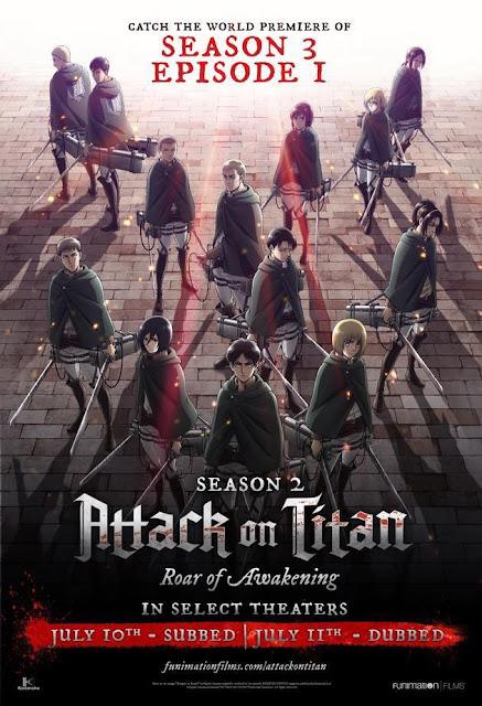 Attack on Titan Season 3 Episode 1 Theatrical Premiere