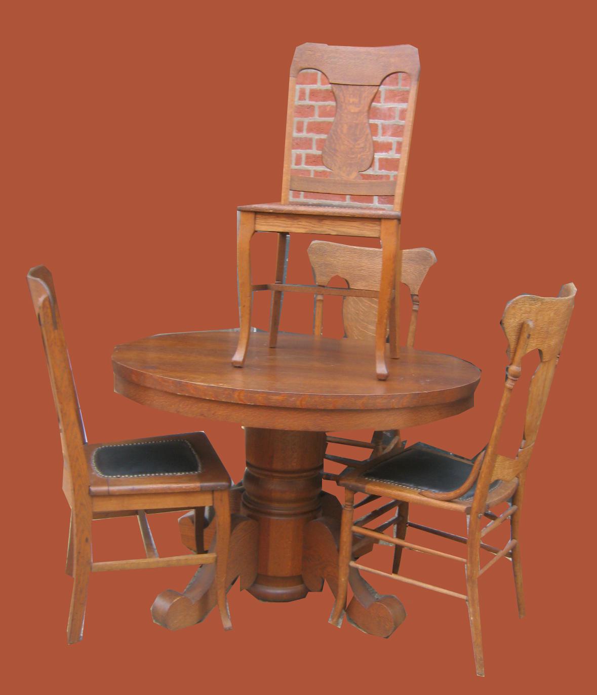 Brilliant Uhuru Furniture Collectibles Early 1900S Oak Pedestal Machost Co Dining Chair Design Ideas Machostcouk