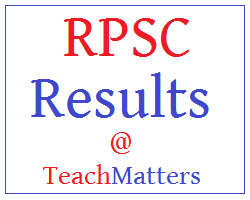 image : RPSC Results @ TeachMatters