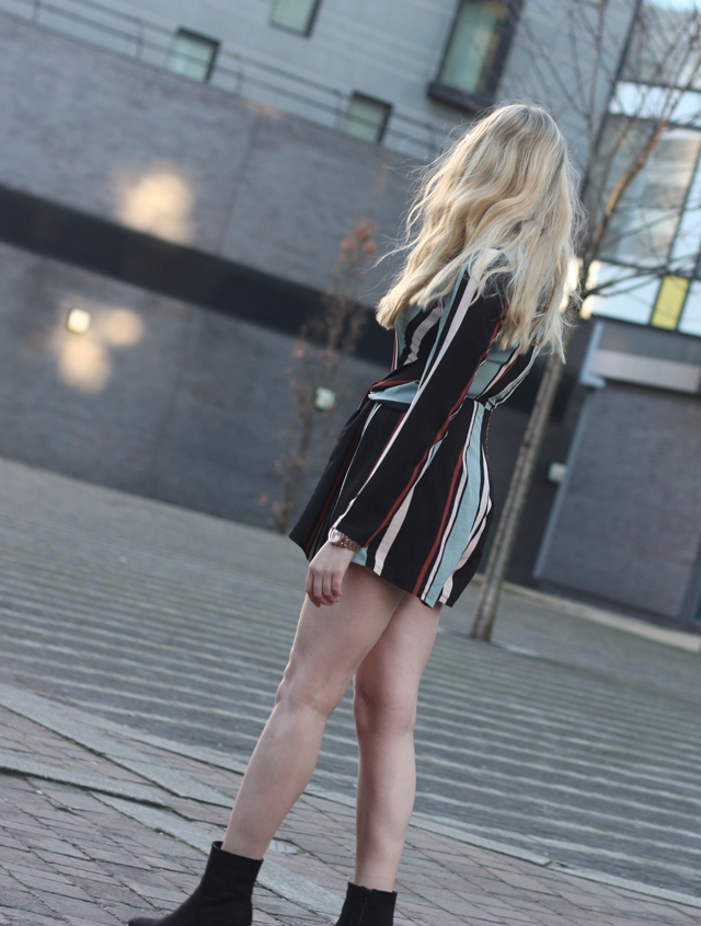 striped playsuit in the style blog