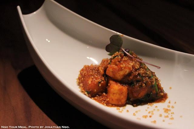 Soft Paneer, Crispy Quinoa, Ramps at Indian Accent