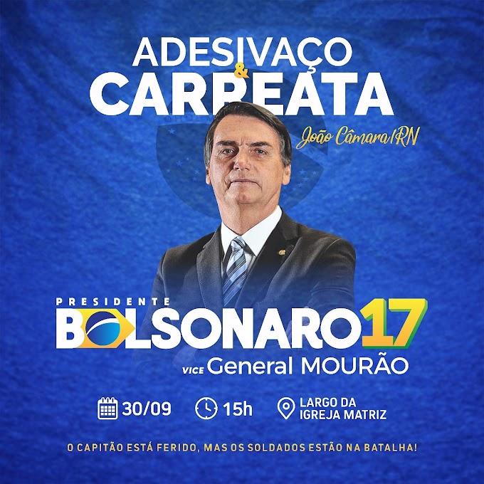 COMITÊ MUDA BRASIL JOÃO CÂMARA CONVIDA A TODOS PARA CARREATA PRO BOLSONARO NESTE DOMINGO AS 15H