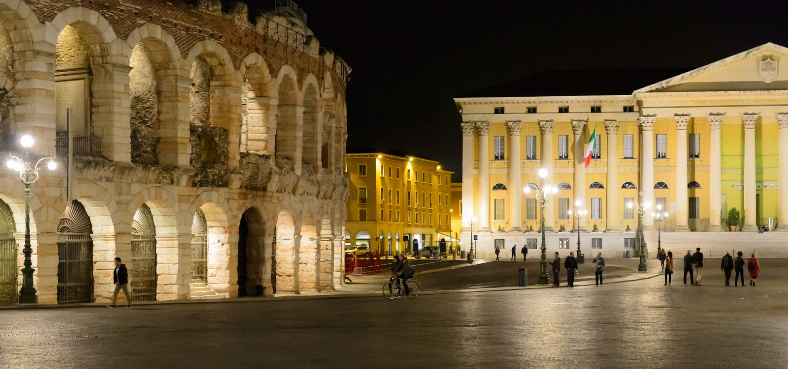 The Piazza Brà and 2,000-year-old Arena in Verona, Italy. Photo: Alessandro Caproni.