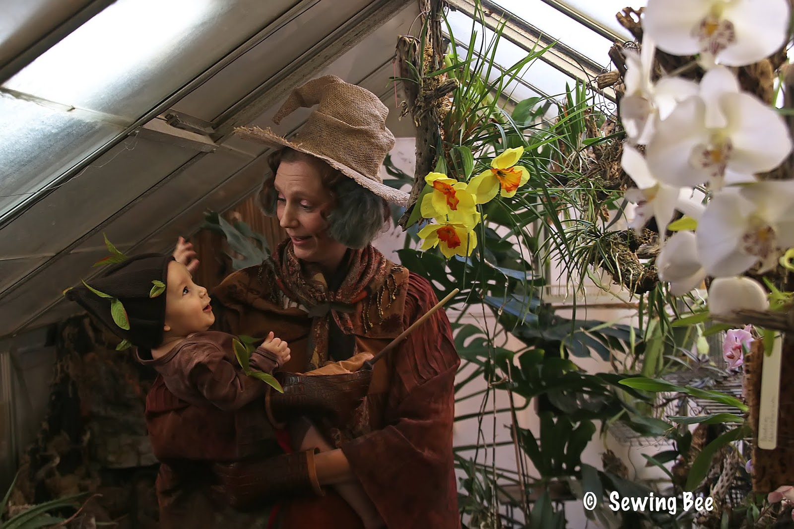 Sewing Bee Professor Sprout And Baby Mandrake Cosplay
