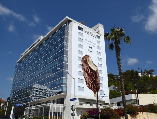 Giant Haagen Dazs ice-cream aah billboard Sunset Strip