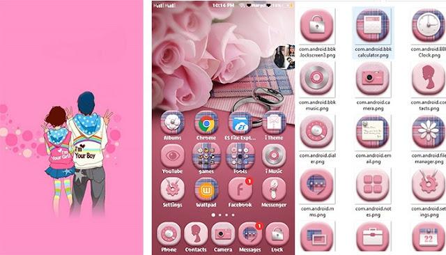 Couple Pink Theme itz For Vivo