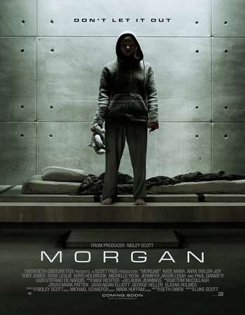 Poster Of Morgan 2016 English 700MB Cam x264 Free Download Watch Online Worldfree4u