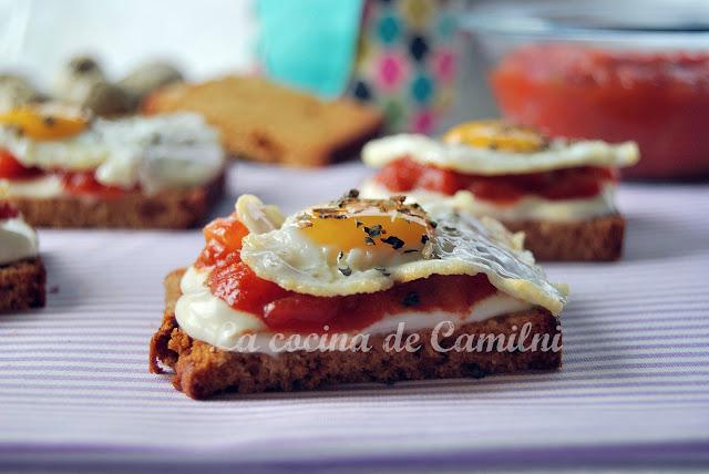 Canapés de pisto (La cocina de Camilni)