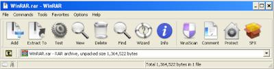 WinRAR OS X theme Snapshot