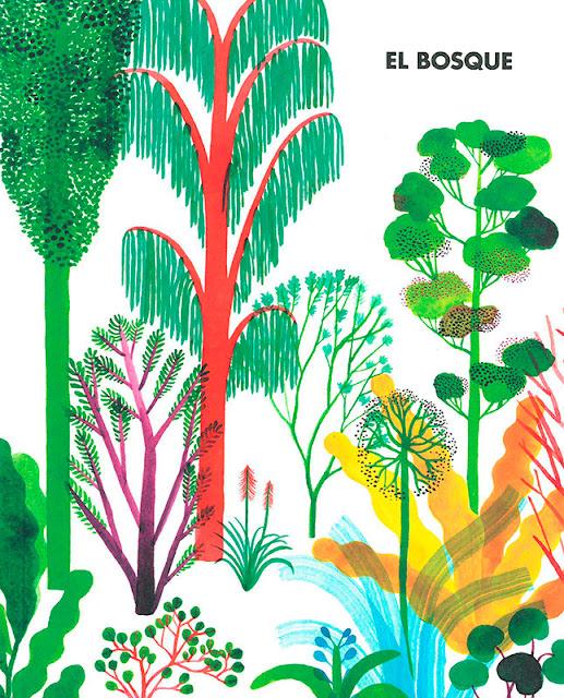 Portada del libro ilustrado El Bosque de Riccardo Bozzi, ilustrado por Violeta Lópiz y Valerio Vidali