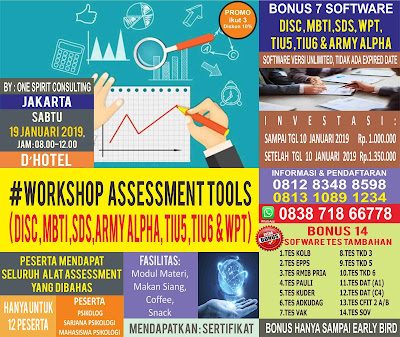 Workshop Alat Tes Psikologi Jakarta 2019