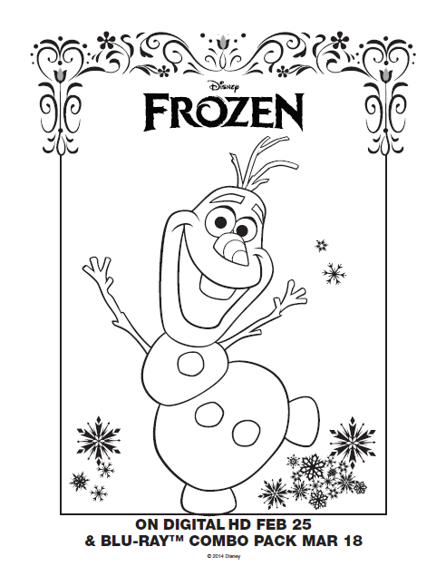 One Savvy Mom ™ NYC Area Mom Blog: Disney Frozen Free Printable Anna,  Elsa And Olaf Coloring Pages - Grab A Box Of Crayons!