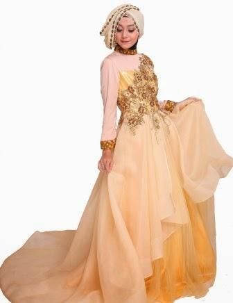 Baju pengantin muslim yang memiliki desain menawan