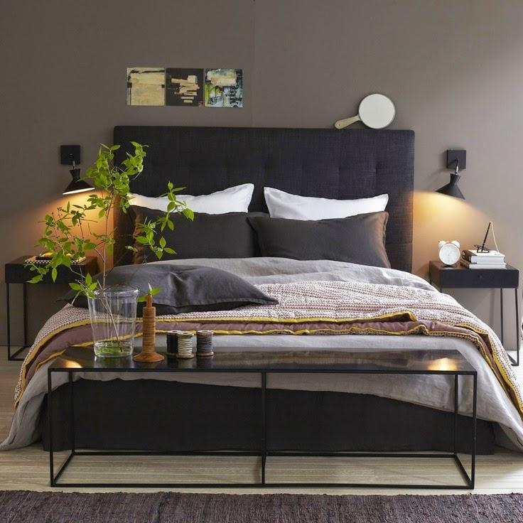 d couvrir l 39 endroit du d cor chambre fonc e. Black Bedroom Furniture Sets. Home Design Ideas
