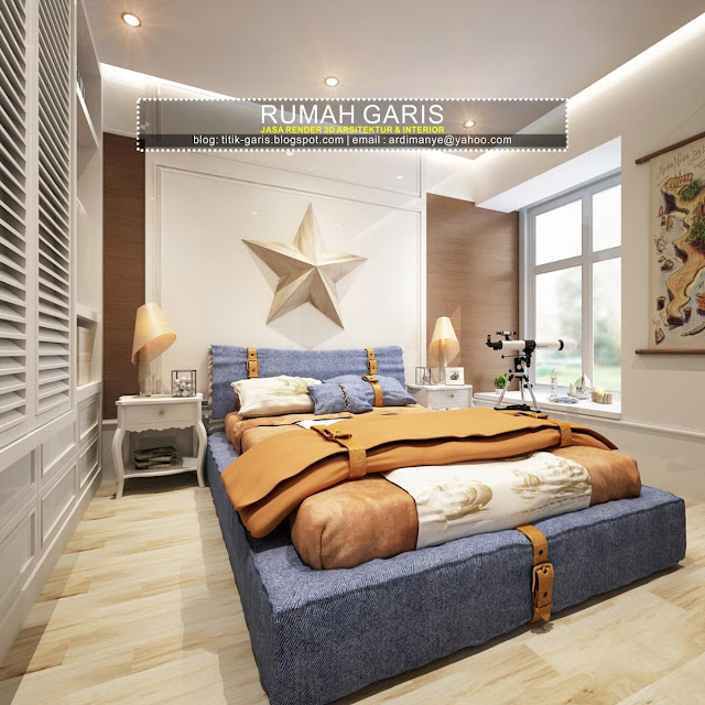desain konsep bedroom karakter jiwa adventure