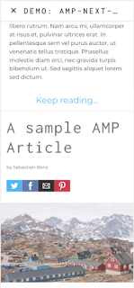 "Fonction ""Infinite Scroll"" avec amp-next-page"