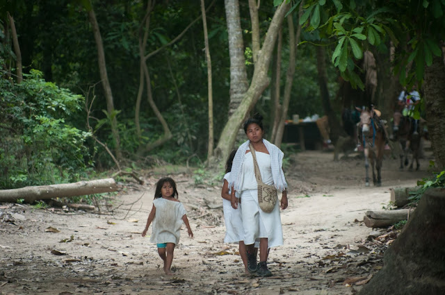 Cogui people in Tayrona National Natural Park, Colombia