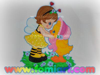 Precious Moments Niña Abejita Con Pollito Decoración Infantil
