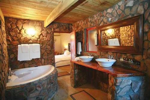 Kamar mandi batu alam yang moderen