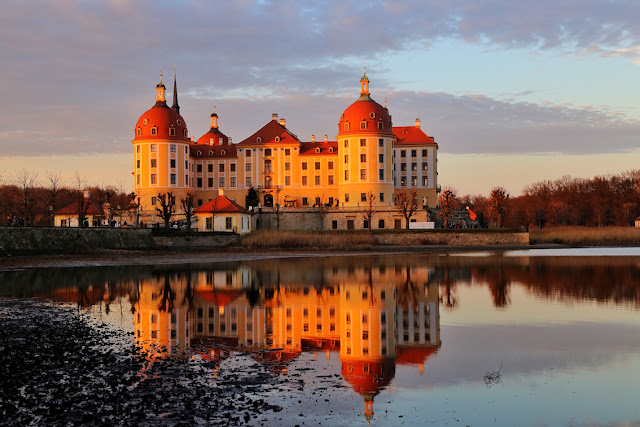 moritzburg castle dresden saxony refelction germany travel blog