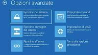 Opzioni Avvio avanzato in Windows 10
