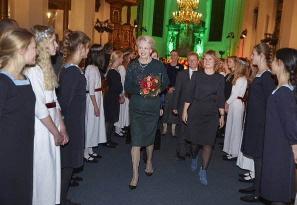 Princess Benedikte attended Copenhagen Girls' Choir's (Sankt Annæ Pigekor) Christmas concert at Church of the Holy Spirit in Copenhagen
