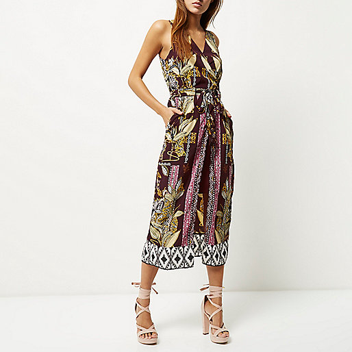 river island print dress, burgundy print dress,