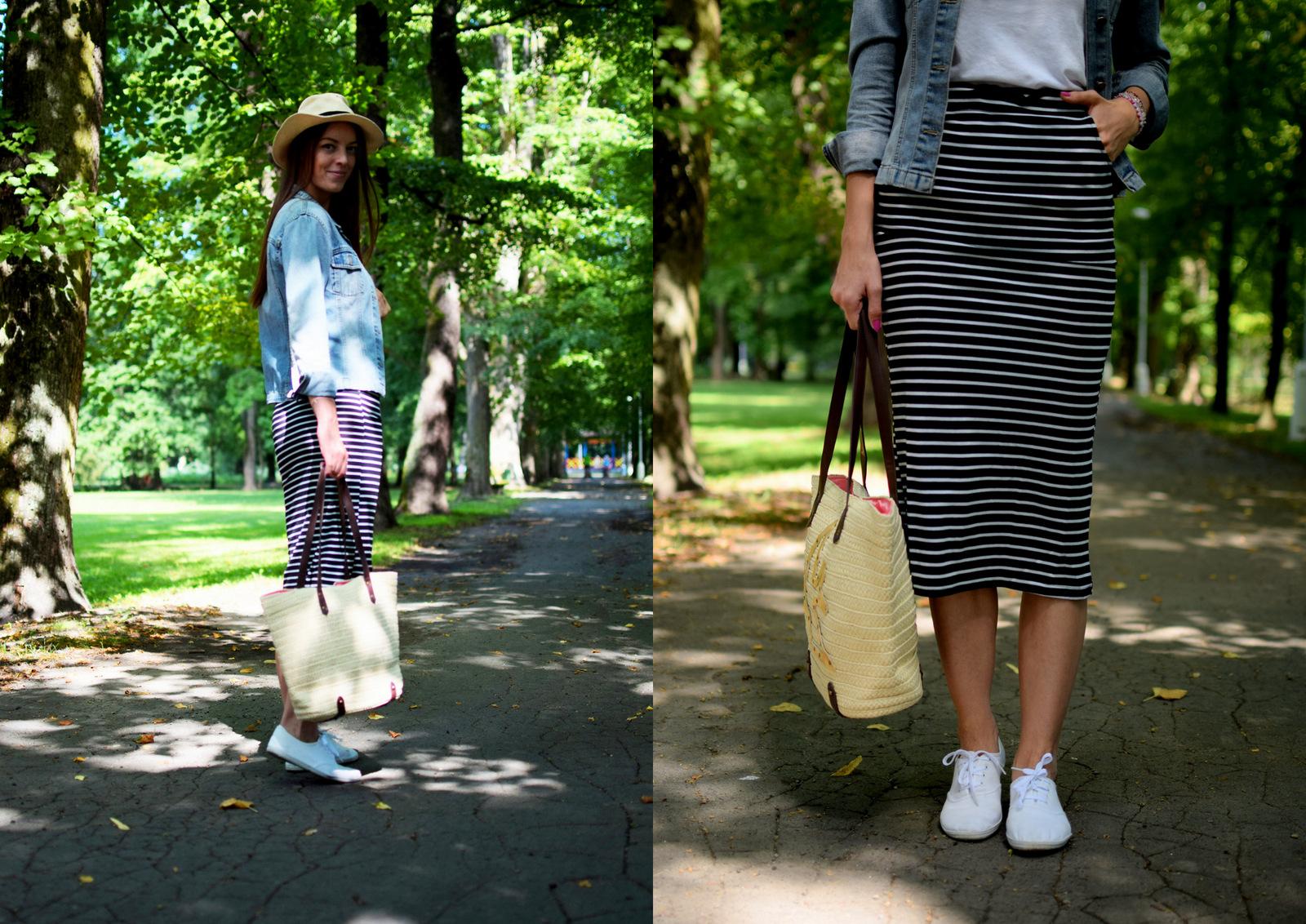 d288494a858d Mademoiselle IVA by Ivana Klepáčová  dlhá pásikavá sukňa   handmade ...