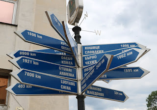 A signpost to many places